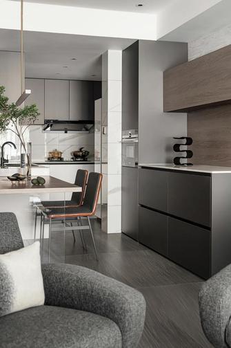 富裕型110平米三室两厅轻奢风格厨房装修图片大全
