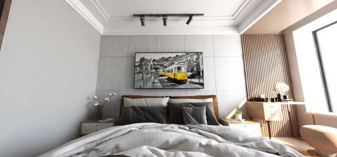 经济型140平米三室两厅工业风风格卧室效果图