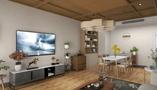 经济型70平米公寓日式风格客厅图片