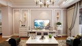100平米三室一厅法式风格客厅装修案例