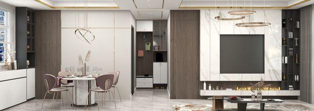 10-15万140平米四室一厅轻奢风格玄关图片