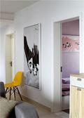 富裕型60平米公寓现代简约风格卧室图