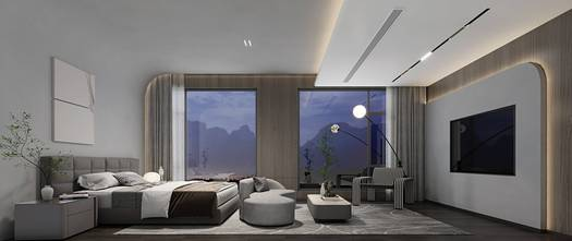 豪华型140平米别墅现代简约风格卧室装修案例