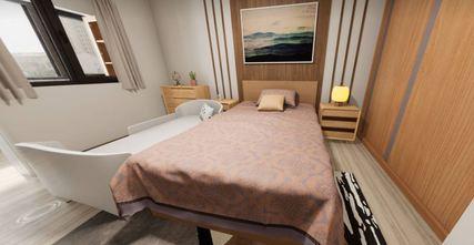 110平米三日式风格卧室装修案例