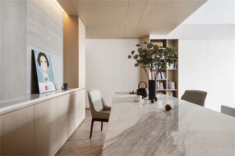 15-20万80平米现代简约风格餐厅装修图片大全