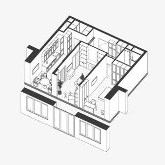 40平米小户型新古典风格客厅图片大全