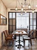 10-15万100平米复式北欧风格餐厅装修图片大全