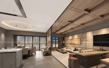豪华型140平米四室两厅混搭风格客厅装修图片大全