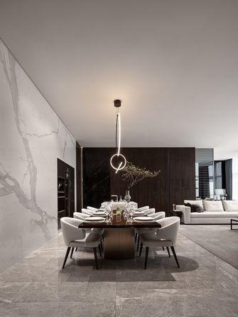 130平米三室三厅现代简约风格餐厅图片大全