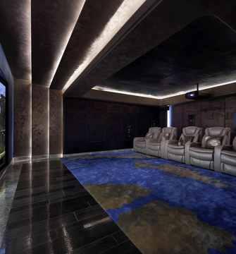 140平米中式风格影音室装修效果图