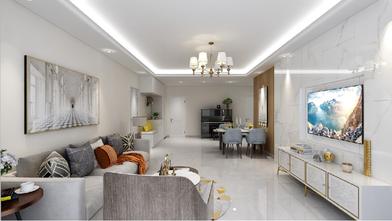 20万以上120平米三室一厅轻奢风格客厅装修案例