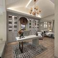 豪华型140平米别墅美式风格书房图片
