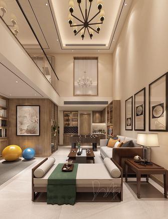 豪华型100平米别墅中式风格客厅装修图片大全