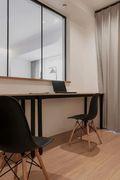 豪华型110平米四室一厅日式风格书房图