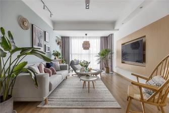 富裕型90平米三室两厅北欧风格客厅装修案例