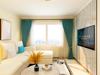 经济型80平米三室两厅现代简约风格客厅效果图