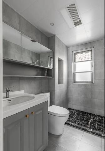 经济型110平米三室一厅美式风格卫生间图