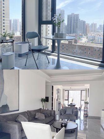 10-15万90平米三室一厅现代简约风格阳台欣赏图