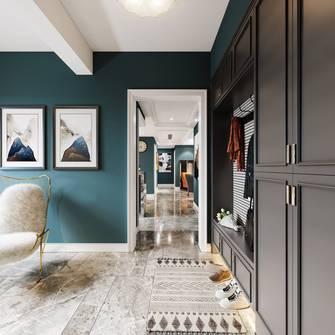 富裕型120平米三室两厅工业风风格玄关设计图
