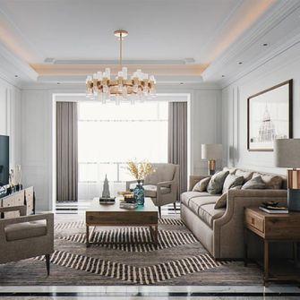 120平米三室两厅美式风格客厅图片大全