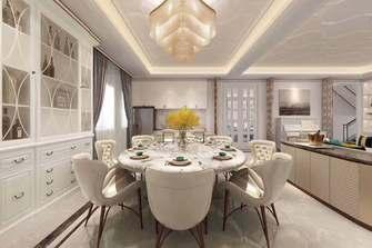 100平米三室一厅法式风格餐厅装修图片大全