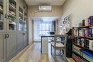 富裕型110平米复式混搭风格书房设计图