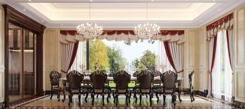 20万以上140平米别墅法式风格餐厅装修效果图