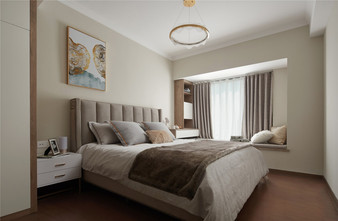 经济型60平米公寓北欧风格卧室设计图