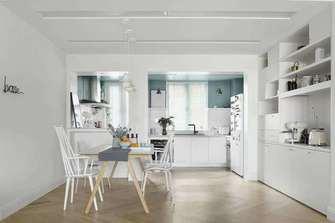 富裕型110平米三室两厅北欧风格餐厅效果图