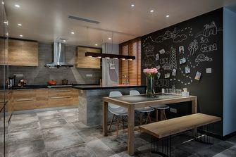 富裕型110平米三室两厅现代简约风格餐厅装修图片大全