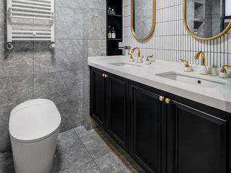 富裕型130平米三室一厅美式风格卫生间装修图片大全