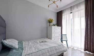 富裕型110平米三室一厅现代简约风格卧室图片大全