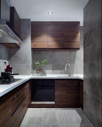 富裕型90平米三室一厅北欧风格厨房图片