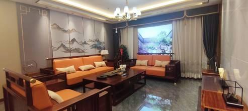 120平米中式风格客厅图