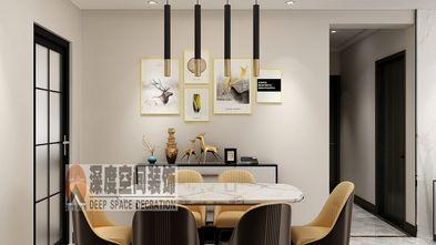 富裕型110平米三室两厅轻奢风格餐厅图