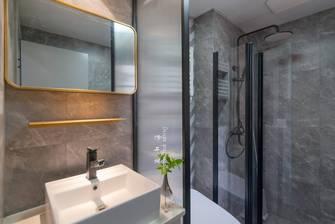 80平米三室两厅现代简约风格卫生间装修案例