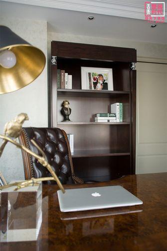 100平米美式风格书房图