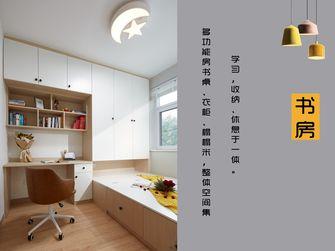 富裕型90平米三室两厅日式风格书房图片大全