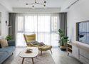 富裕型100平米一室一厅北欧风格客厅效果图