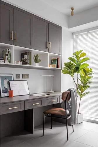 富裕型90平米现代简约风格书房装修效果图