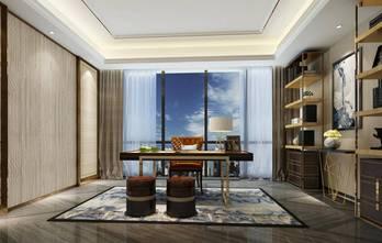 120平米三室两厅轻奢风格书房图片大全