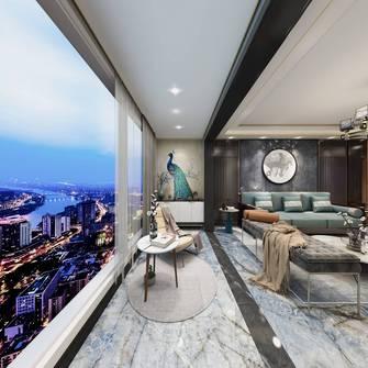 豪华型130平米三室三厅港式风格阳台设计图