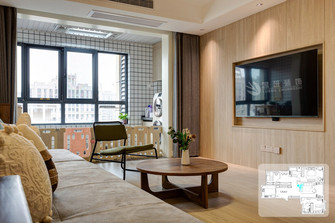 富裕型140平米四室两厅混搭风格阳台图片大全