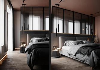 80平米现代简约风格卧室图片