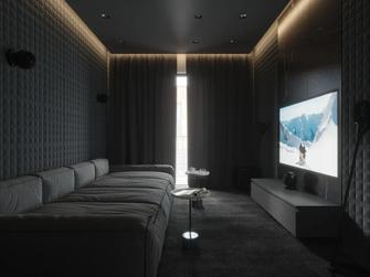 豪华型140平米三室两厅轻奢风格影音室设计图
