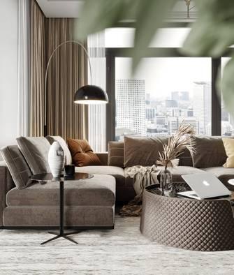 70平米法式风格客厅图片