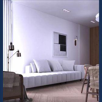 80平米三室一厅轻奢风格客厅图片大全