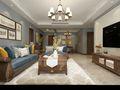 110平米三室三厅美式风格餐厅设计图