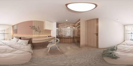 富裕型100平米三室两厅田园风格卧室图片大全