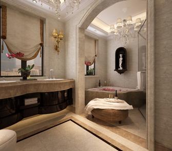 豪华型140平米别墅欧式风格卫生间效果图